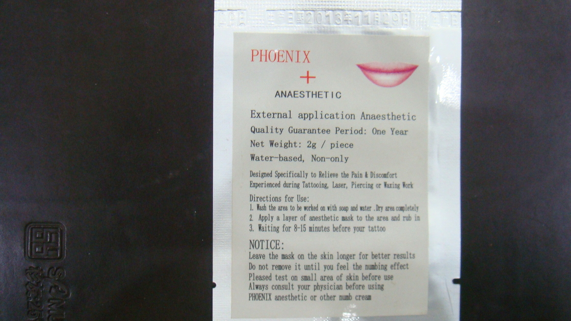 Phoneix Permanent Makeup Tattoo Topical Anesthetic , Topical Skin Numbing Cream