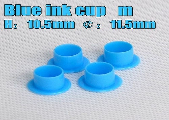 Blue Color Plastic Tattoo Machine Ink Pigment Cups Tattoo Accessories