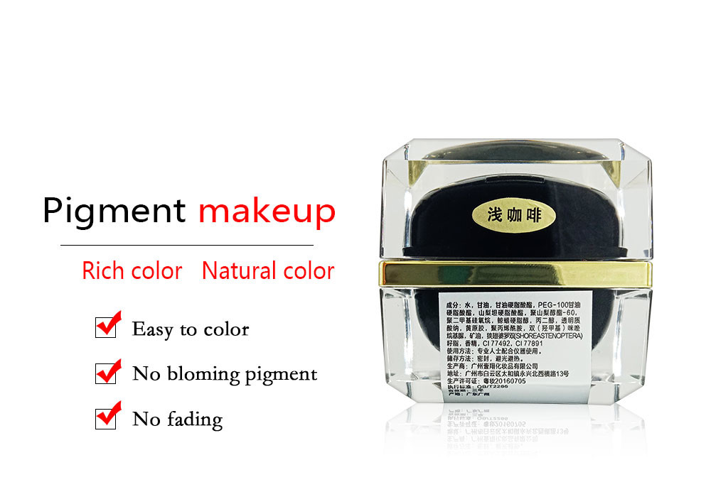 Waterproof Eyebrow Tattoo Ink Set Semi Permanent Tattoo Colorings Skin Friendly And Smooth
